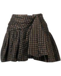 Mes Demoiselles - Checked Short Skirt - Lyst