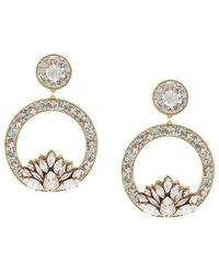 Shourouk - Hula Hoop Crystal Earrings - Lyst