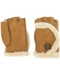 UGG - Shearling Finger-less Gloves - Lyst