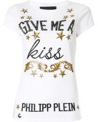 Philipp Plein - Give Me A Kiss T-shirt - Lyst