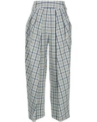 Eudon Choi - Checked Cropped Trousers - Lyst