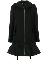 Moncler - Flared Hem Hooded Coat - Lyst