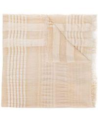 Fabiana Filippi - Striped Details Scarf - Lyst