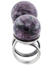 Midgard Paris - Stone Spiral Ring - Lyst