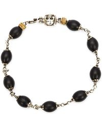 Roman Paul - Skull Wrapped Bracelet - Lyst