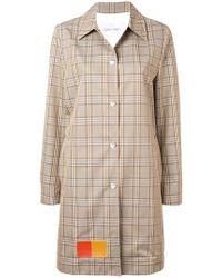 Calvin Klein - Patched Glen Check Coat - Lyst
