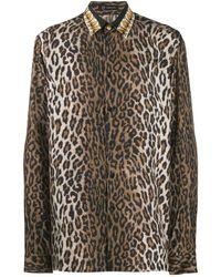 Versace - Hemd mit Leoparden-Print - Lyst