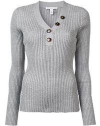 Autumn Cashmere - Rib Button Up Jumper - Lyst