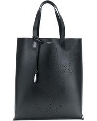 Saint Laurent - Logo Shopping Tote - Lyst