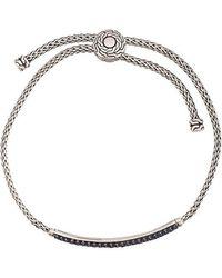 John Hardy - Classic Chain Pull-through Sapphire Bracelet - Lyst