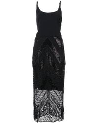 Christian Siriano - Sequin Lace Fitted Dress - Lyst