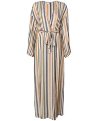 Onia - Meika Striped Coverup Robe With Pockets - Lyst