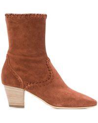 Alberta Ferretti - Stitching Detail Boots - Lyst
