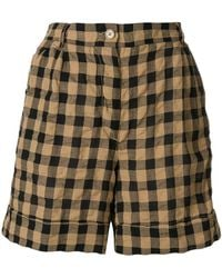 Aspesi - Checkered Bermuda Shorts - Lyst