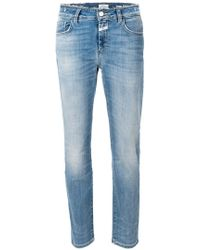 Closed - Frayed Cotton Jeans - Lyst