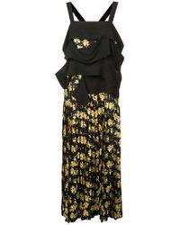 Derek Lam - Draped Panel Cami Dress With Pleated Skirt - Lyst