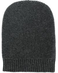 N.Peal Cashmere - Classic Fitted Beanie Hat - Lyst