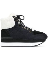 Trussardi - Lace-up Quilted Trainers - Lyst
