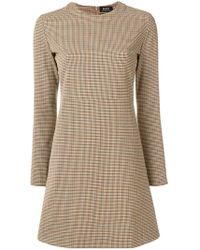 A.P.C. - Maddy Checked Mini Dress - Lyst