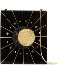 Nathalie Trad - Black Aurora Star Print Shell Shoulder Bag - Lyst