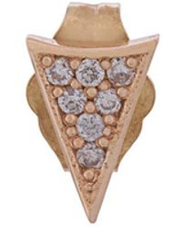 Sydney Evan - 14kt Rose Gold Triangle Stud Earring - Lyst