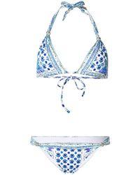 Camilla - Salvador Summer Multiprint Triangle Bikini Top - Lyst