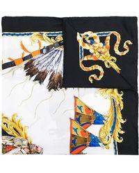 Versace   Horse Print Scarf   Lyst