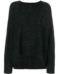 Rundholz Black Label - Draped Knitted Top - Lyst