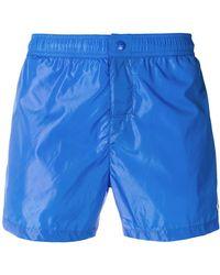 Moncler - Tri-stripe Trim Swim Shorts - Lyst