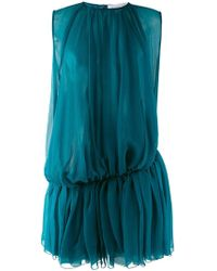 Gianluca Capannolo - - Gathered Pleat Dress - Women - Silk - 40 - Lyst