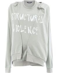 Moohong - Distressed Slogan Sweatshirt - Lyst