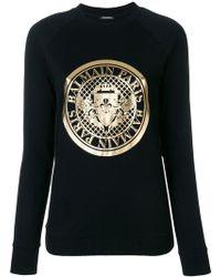 Balmain - Logo Medallion Sweatshirt - Lyst