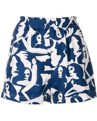 LaDoubleJ - Patterned Shorts - Lyst