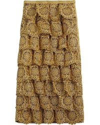 Burberry - Tiered Silicone Lace Skirt - Lyst
