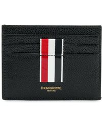 Thom Browne - Vertical Intarsia Stripe Cardholder In Pebble Grain Leather - Lyst