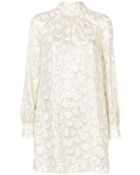 MILLY - Embellished Long-sleeve Dress - Lyst