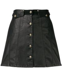 Versace Jeans - Button Front Mini Skirt - Lyst