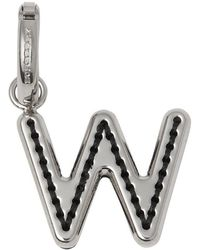 Burberry - Leather-topstitched 'w' Alphabet Charm - Lyst
