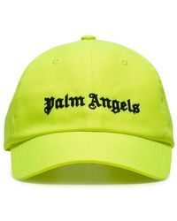 fceaac44e5b Palm Angels - Logo-embroidered Neon Twill Baseball Cap - Lyst