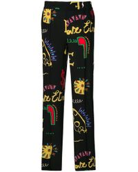 Etro - Printed Palazzo Trousers - Lyst