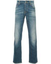 Nudie Jeans - Vaqueros rectos con efecto lavado - Lyst