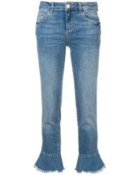 Liu Jo - Ausgestellte Cropped-Jeans - Lyst