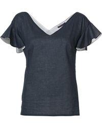 Harvey Faircloth - Ruffle Sleeve T-shirt - Lyst