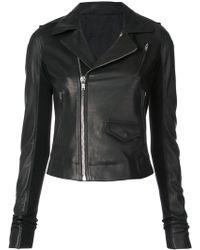 Rick Owens - Zipped Biker Jacket - Lyst