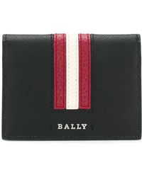 Bally - Striped Logo Wallet - Lyst