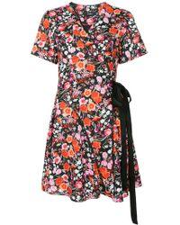 Goen.J - Floral Printed Wrap Dress - Lyst