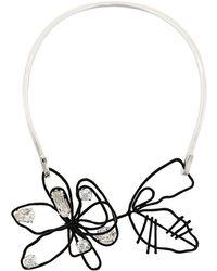 Maison Margiela - Floral Embellished Necklace - Lyst