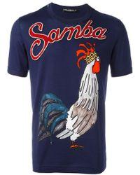 Dolce & Gabbana - Samba Rooster Print T-shirt - Lyst