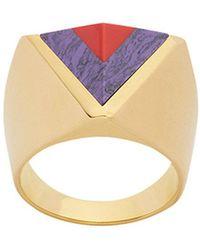 Fendi - Rainbow Two-tone Ring - Lyst
