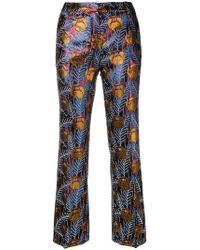 L'Autre Chose - Floral Print Trousers - Lyst